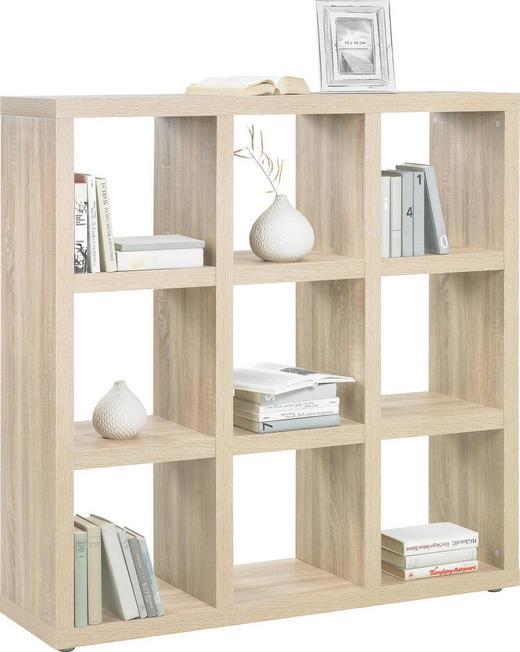 RAUMTEILER in Eichefarben - Eichefarben/Alufarben, Design, Holzwerkstoff/Kunststoff (123/124/35cm)