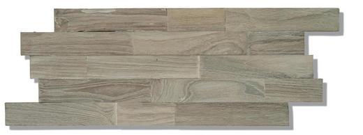 WANDVERKLEIDUNG - Braun/Grau, Basics, Holz (50/20/2cm)