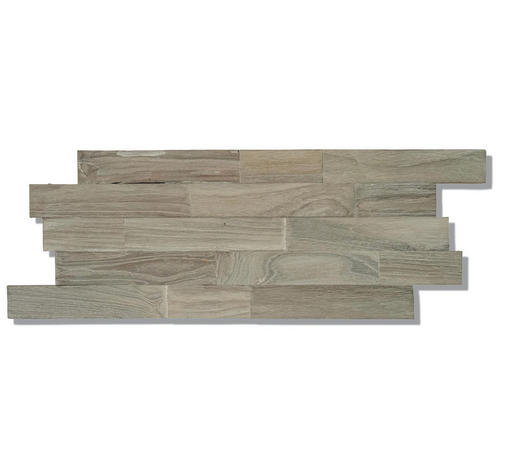 WANDVERKLEIDUNG - Braun/Naturfarben, Basics, Holz (50/20/2cm) - Venda