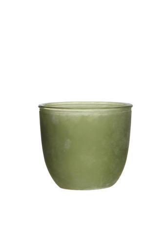 CVETLIČNI LONČEK - zelena, steklo (15/13cm) - Ambia Home
