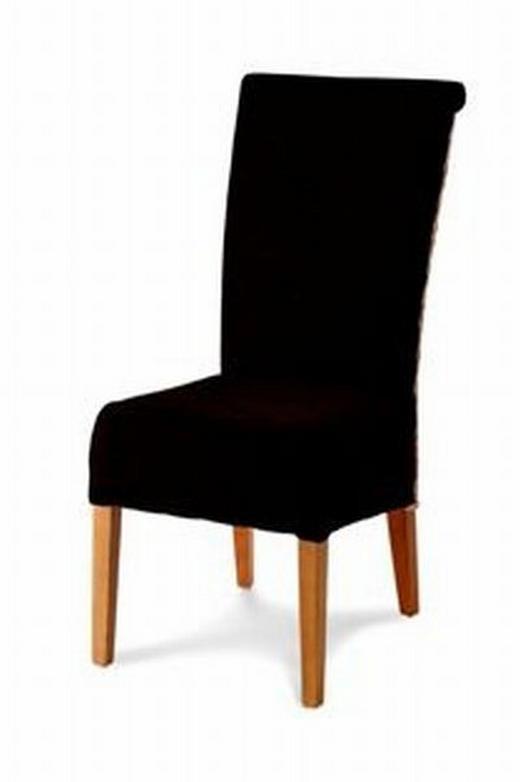 STUHL Eiche massiv Braun, Eichefarben - Eichefarben/Braun, LIFESTYLE, Holz/Textil (46/106/62cm) - LANDSCAPE