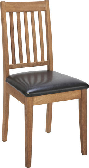 STOL - svart/ekfärgad, Klassisk, trä/plast (44/94/46cm) - Rowico