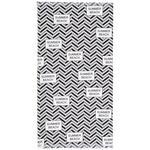 HAMAMTUCH 90/160 cm  - Schwarz/Weiß, Design, Textil (90/160cm) - Esposa