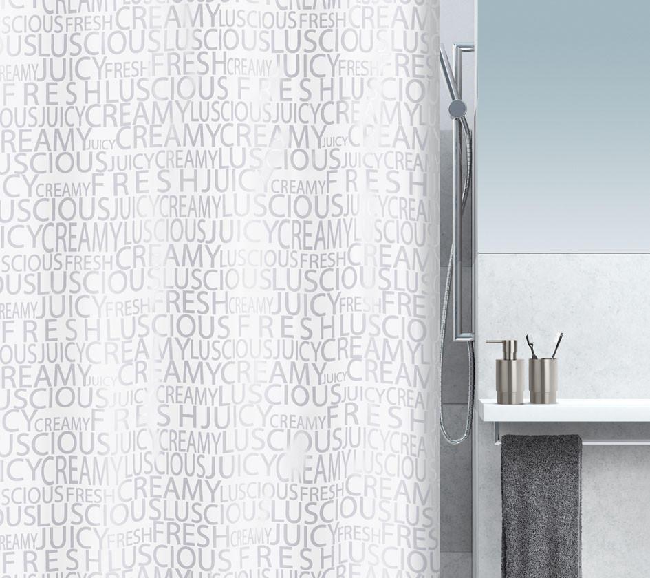 DUSCHVORHANG  Silberfarben - Silberfarben, Basics, Textil (180/200cm) - SPIRELLA