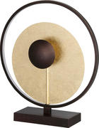 LED STOLNÍ LAMPA - barvy zlata, Lifestyle, kov (40/45cm)