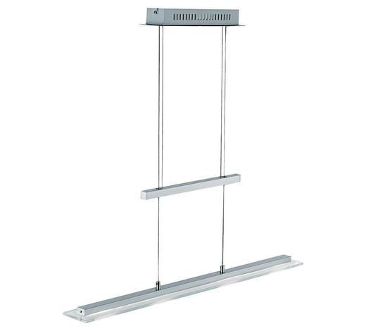 LED-HÄNGELEUCHTE   - Chromfarben/Nickelfarben, KONVENTIONELL, Glas/Metall (64/150cm)
