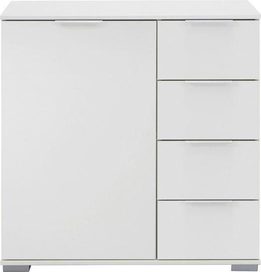 KOMMODE 81 83 41 cm - Alufarben/Weiß, Design, Holzwerkstoff/Kunststoff (81 83 41cm) - Carryhome