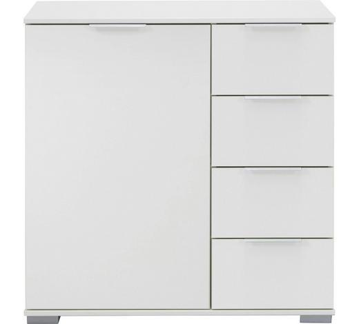 KOMMODE 81/83/41 cm  - Alufarben/Weiß, Design, Holzwerkstoff/Kunststoff (81/83/41cm) - Carryhome