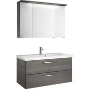 BADEZIMMER - Graphitfarben, Design, Glas/Holzwerkstoff (110/200/85cm)