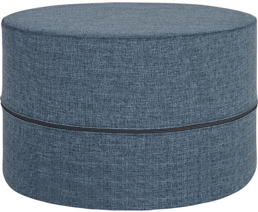 HOCKER Flachgewebe Blau - Blau, Design, Textil (62/40cm) - Innovation