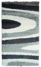TEPIH VISOKOG FLORA - siva, tekstil (67/140cm)