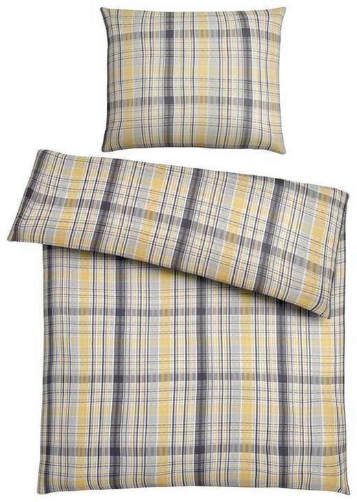 BETTWÄSCHE 140/200 cm - Gelb/Grau, KONVENTIONELL, Textil (140/200cm) - Novel