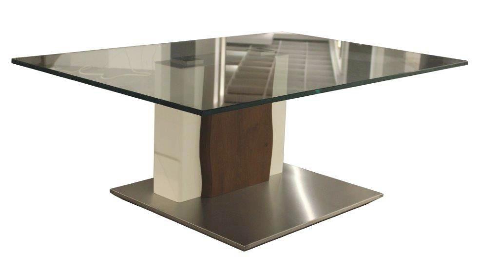 KONFERENČNÍ STOLEK - bílá/tmavě hnědá, Design, kov/dřevo (110/43/75cm) - MODERANO