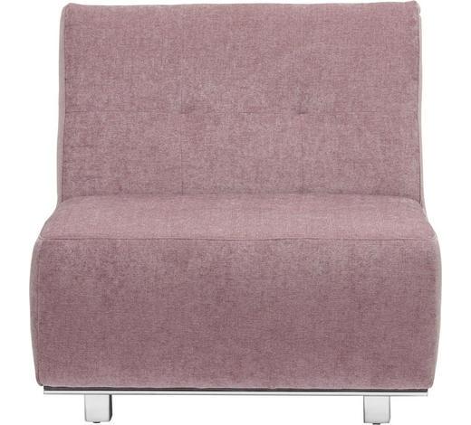 SCHLAFSESSEL in Textil Rosa  - Chromfarben/Rosa, Design, Textil/Metall (84/88/103cm) - Novel