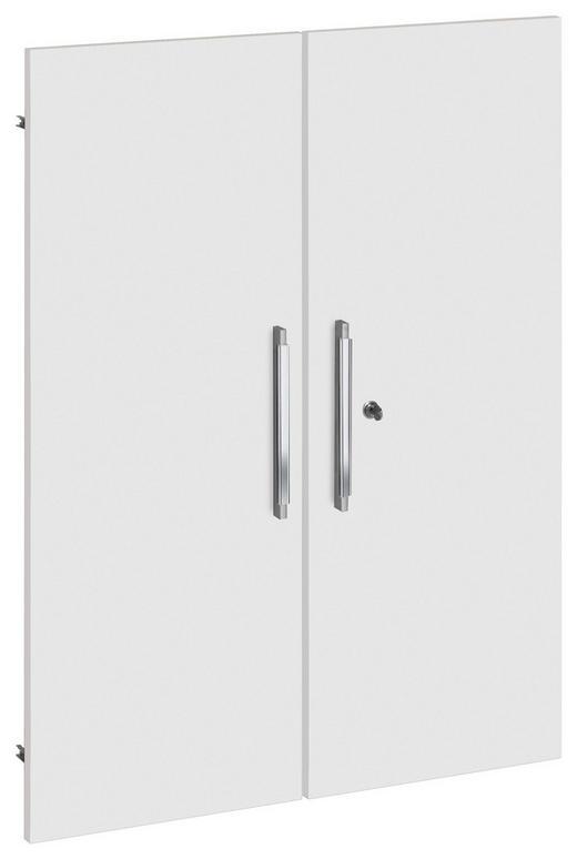 TÜR Weiß - Silberfarben/Weiß, Design, Holz/Kunststoff (76/102cm)