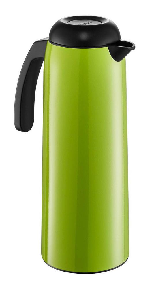 ISOLIERKANNE 1 L - Limette/Schwarz, Basics, Glas/Kunststoff (11/29,5cm) - Wesco