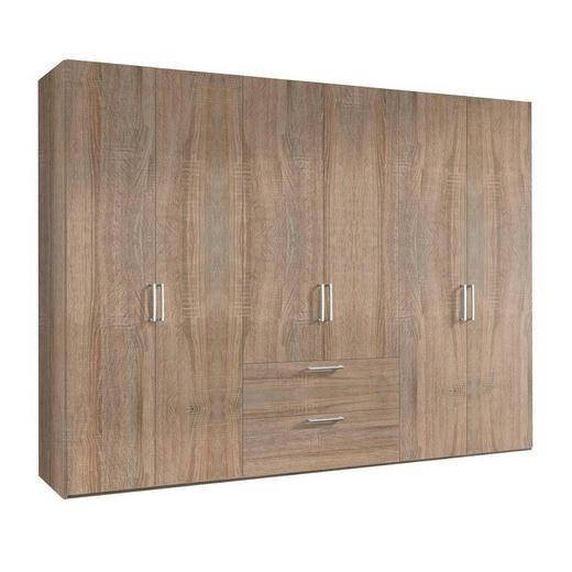DREHTÜRENSCHRANK 6  -türig Sonoma Eiche - Alufarben/Sonoma Eiche, KONVENTIONELL, Holzwerkstoff/Kunststoff (300/216/58cm) - Hom`in