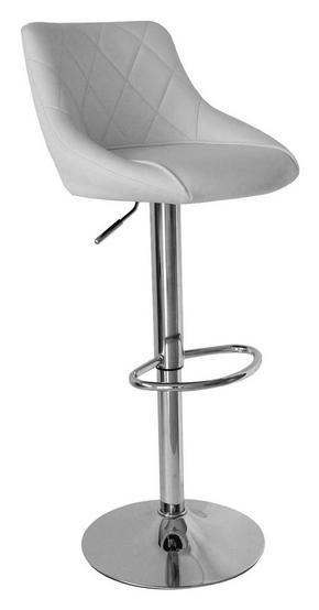 BARPALL - vit/kromfärg, Design, metall/textil (47,5/82-103/52cm) - Carryhome