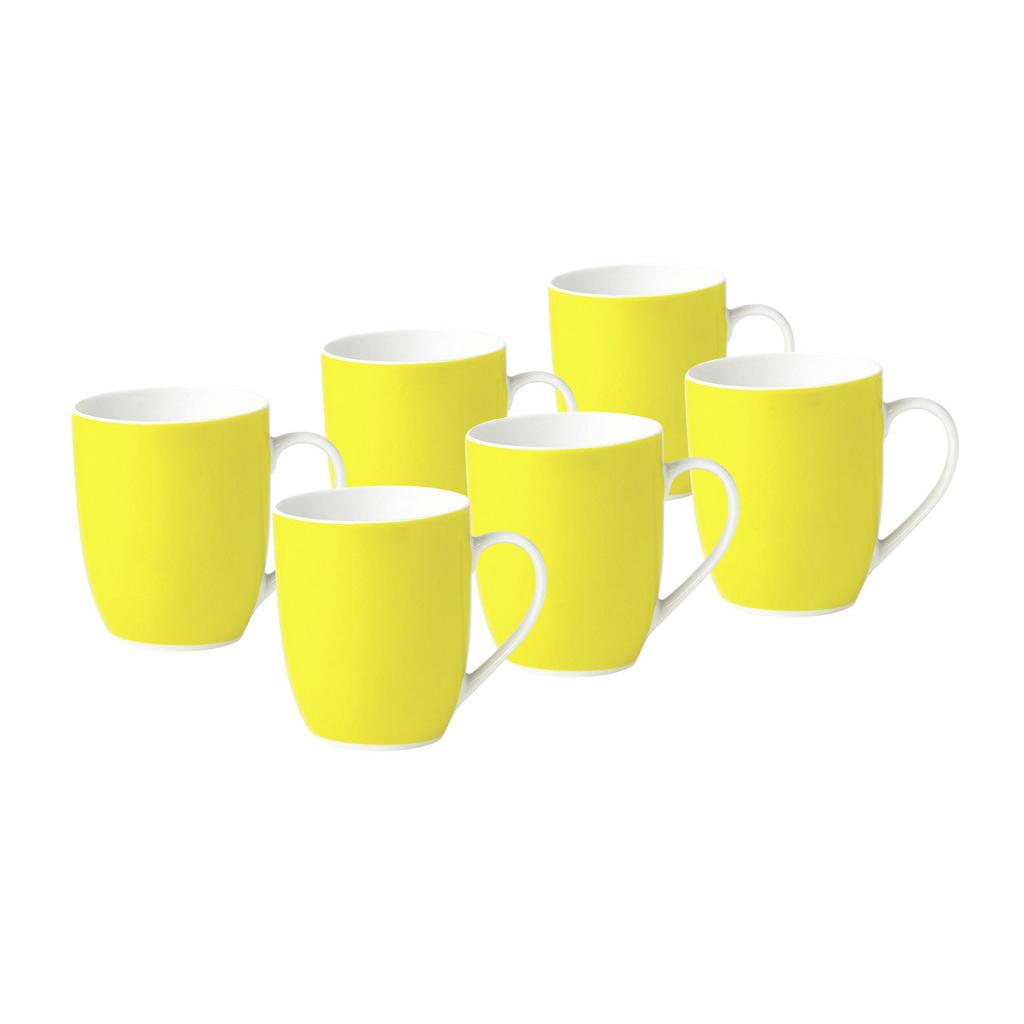 XXXLutz Kaffeebecherset 6-teilig keramik porzellan gelb