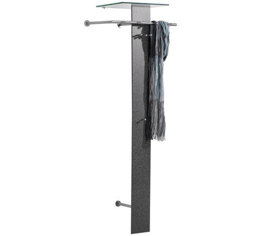 GARDEROBE Grau, Klar  - Klar/Grau, Design, Glas/Metall (70/190/38cm) - Xora