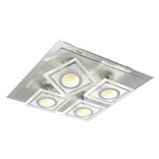 LED-DECKENLEUCHTE - Chromfarben, Design, Glas/Metall (15/38/38cm) - NOVEL