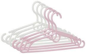 BARNGALGE - vit/rosa, Basics, plast (32cm) - My Baby Lou