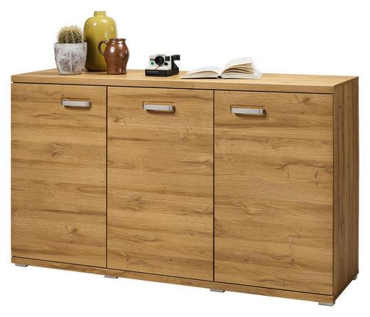 SIDEBOARD foliert Eichefarben - Eichefarben/Alufarben, Design, Holzwerkstoff/Kunststoff (150/88,4/43,6cm) - Set one by Musterrin
