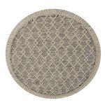 HANDWEBETEPPICH Sylt  - Beige/Weiß, Natur, Textil (120cm) - Linea Natura