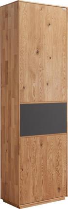 Garderobenschrank - Eichefarben/Anthrazit, Design, Glas/Holz (60/205/38cm) - Valnatura