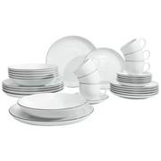 30/1 JEDILNI SERVIS LIDO - črna/bela, Basics, keramika - Seltmann Weiden