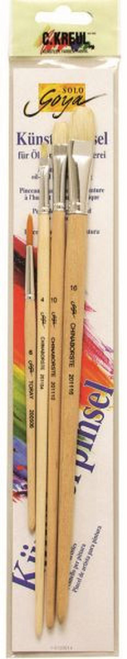 PINSELSET - Basics, Holz/Kunststoff (7/39.7cm)