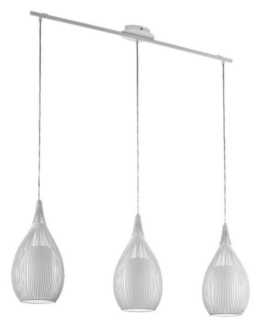 HÄNGELEUCHTE - Weiß, Design, Glas/Metall (99/19/110cm)