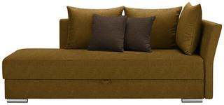 LIEGE in Textil Dunkelbraun, Bernsteinfarben - Chromfarben/Dunkelbraun, Design, Kunststoff/Textil (220/93/100cm) - Xora