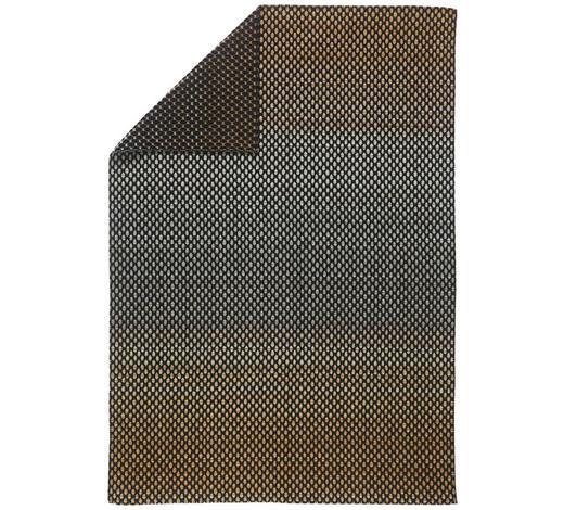 KUSCHELDECKE 130/200 cm - Goldfarben/Schwarz, Design, Textil (130/200cm) - David Fussenegger