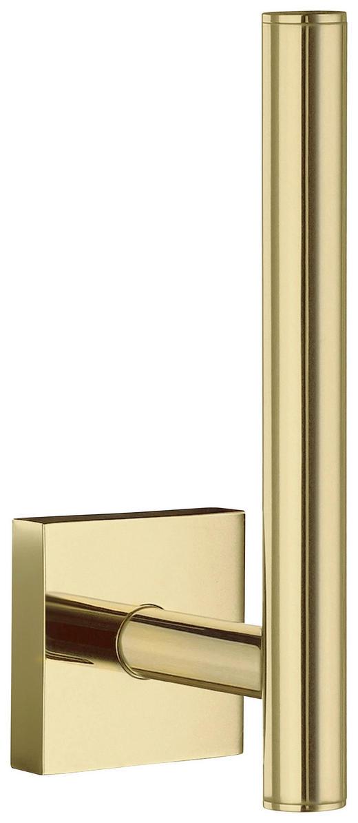TOILETTENPAPIERHALTER - Goldfarben, LIFESTYLE, Metall (4,5/14/6,6cm)