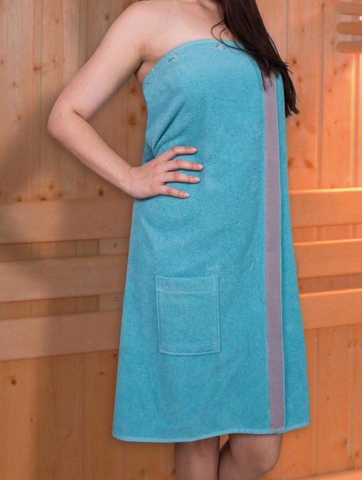SAUNAKILT 145/80 cm - Türkis, Textil (145/80cm)