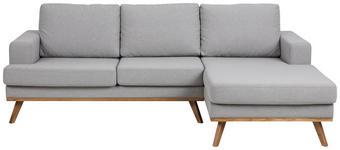 WOHNLANDSCHAFT in Textil Hellgrau  - Klar/Hellgrau, Design, Holz/Textil (233/148cm) - Carryhome