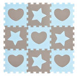 BODENPUZZLE   Blau, Grau   - Blau/Grau, Basics, Kunststoff (32/32/1cm) - My Baby Lou