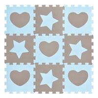 PUZZLE - Blau/Grau, Basics, Kunststoff (32/32/1cm) - MY BABY LOU