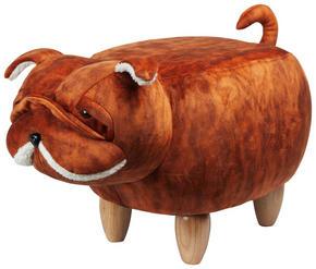 SITTPALL - brun/naturfärgad, Design, trä/träbaserade material (66/37/36cm)