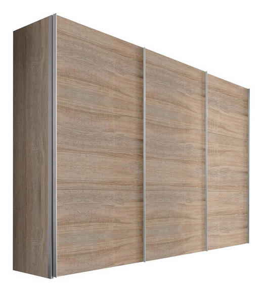 SCHWEBETÜRENSCHRANK 3  -türig Sonoma Eiche - Alufarben/Sonoma Eiche, KONVENTIONELL, Holzwerkstoff/Metall (300/216/68cm) - Hom`in