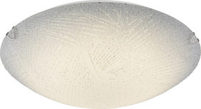 LED-TAKLAMPA - vit, Basics, metall/glas (40/9,5cm) - Boxxx