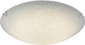 LED-DECKENLEUCHTE - Weiß, Basics, Glas/Metall (40/9,5cm) - Boxxx