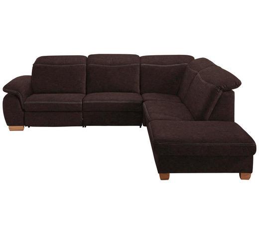 WOHNLANDSCHAFT Braun  - Beige/Buchefarben, KONVENTIONELL, Textil (299/245cm) - Voleo