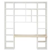 BÜCHERWAND in 224,5/250,9/49,2 cm Eschefarben, Weiß - Eschefarben/Weiß, Design, Holz/Holzwerkstoff (224,5/250,9/49,2cm) - Invivus