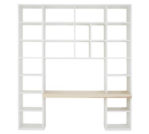 BÜCHERWAND in 224,5/250,9/49,2 cm Weiß, Eschefarben - Eschefarben/Weiß, Design, Holz/Holzwerkstoff (224,5/250,9/49,2cm) - Invivus