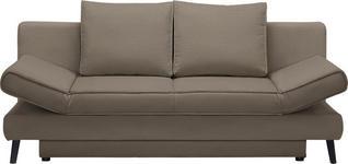 SCHLAFSOFA in Textil Braun  - Schwarz/Braun, Design, Textil/Metall (200/85/90cm) - Xora