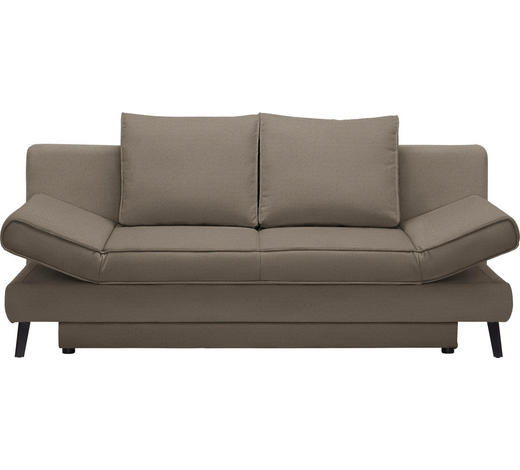 SCHLAFSOFA Braun  - Schwarz/Braun, Design, Textil/Metall (200/85/90cm) - Xora