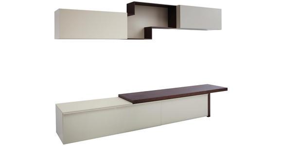 WOHNWAND in Weiß, Kastanienfarben  - Kastanienfarben/Weiß, Design, Holz/Holzwerkstoff (270/165,6/47,7cm) - Dieter Knoll