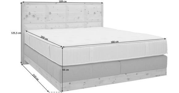 BOXSPRINGBETT 180/200 cm  in Buchefarben, Grau - Buchefarben/Grau, Natur, Holz/Textil (180/200cm) - Valnatura